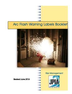 Arc Flash Warning Labels Booklet