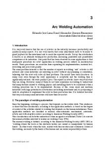 Arc Welding Automation