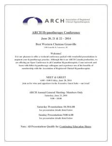 ARCH Hypnotherapy Conference