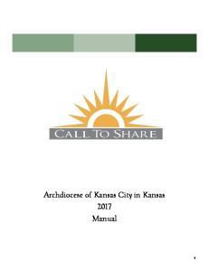 Archdiocese of Kansas City in Kansas 2017 Manual