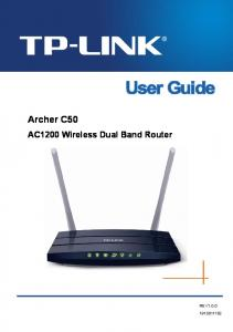 Archer C50 AC1200 Wireless Dual Band Router