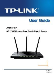 Archer C7 AC1750 Wireless Dual Band Gigabit Router