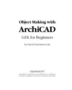 ArchiCAD GDL for Beginners