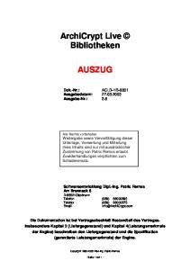 ArchiCrypt Live Bibliotheken AUSZUG
