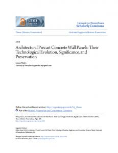 Architectural Precast Concrete Wall Panels: Their Technological Evolution, Significance, and Preservation