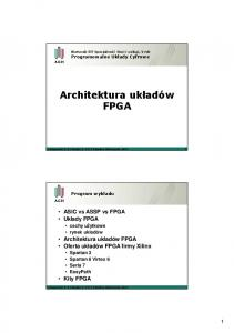 Architektura układów FPGA