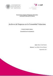 Archivos de Empresas en la Comunidad Valenciana