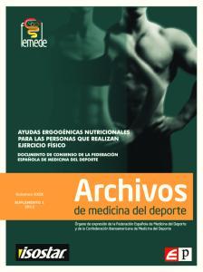 Archivos. de medicina del deporte