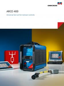 ARCO 400. Universal test set for recloser controls