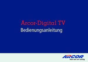 Arcor-Digital TV. Bedienungsanleitung