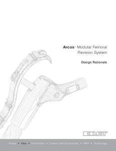 Arcos Modular Femoral Revision System
