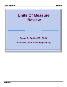 Arctic Engineering Module 2a Page 1 of 27