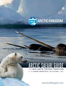 ARCTIC KINGDOM ARCTIC SAFARI GUIDE RE REAL ARCTIC FOR REAL TRAVELLERS ARCTIC KINGDOM COMPREHENSIVE TRIP CATALOGUE