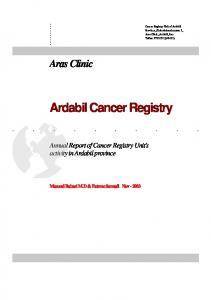 Ardabil Cancer Registry