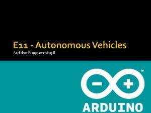 Arduino Programming II