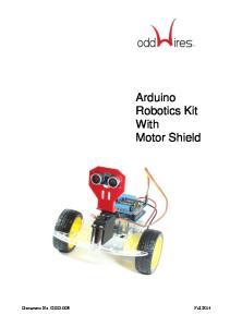 Arduino Robotics Kit With Motor Shield