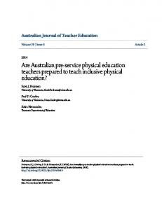 Are Australian pre-service physical education teachers prepared to teach inclusive physical education?
