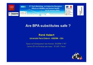 Are BPA substitutes safe?