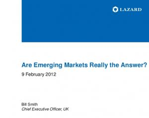 Are Emerging Markets Really the Answer?