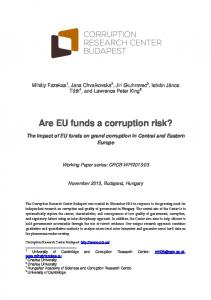 Are EU funds a corruption risk?