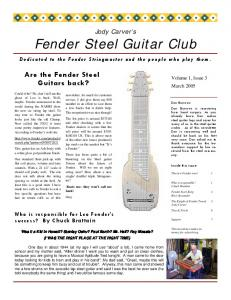 Are the Fender Steel Guitars back?