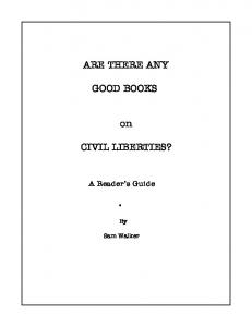 ARE THERE ANY GOOD BOOKS CIVIL LIBERTIES?