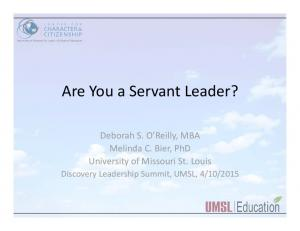 Are You a Servant Leader?