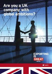 Are you a UK company with global ambitions?