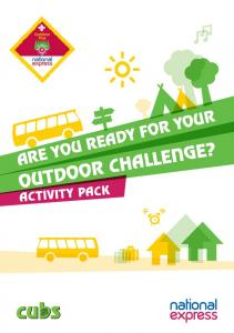 ARE YOU READY FOR YOUR OUTDOOR CHALLENGE? ACTIVITY PACK