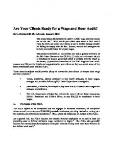 Are Your Clients Ready for a Wage and Hour Audit?