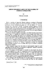 ARENS SEMI-REGULARITY OF THE ALGEBRA OF