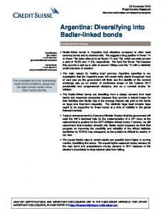 Argentina: Diversifying into Badlar-linked bonds