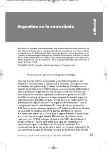 Argentina en la encrucijada