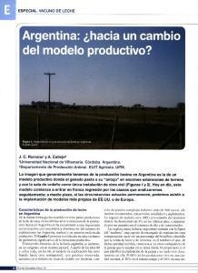 Argentina: hacia un cambio del modelo productivo?