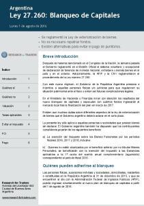Argentina Ley : Blanqueo de Capitales