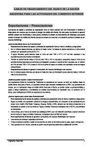 ARGENTINA PARA LAS ACTIVIDADES DEL COMERCIO EXTERIOR