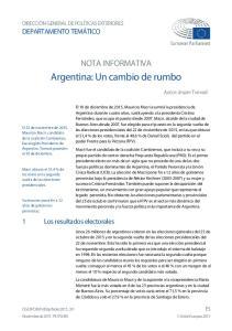 Argentina: Un cambio de rumbo