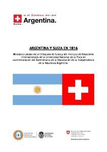 ARGENTINA Y SUIZA EN 1816