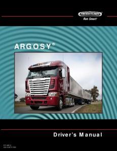 ARGOSY Driver s Manual