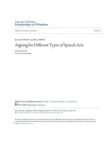 Arguing for Different Types of Speech Acts