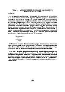 ARGUMENTOS CONDICIONALES; RAZONAMIENTO HIPOTETICO-DEDUCTIVO