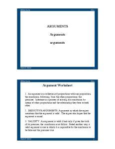 ARGUMENTS. Arguments. arguments