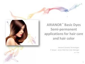 ARIANOR Basic Dyes Semi-permanent applications for hair care and hair color