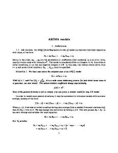 ARIMA models. X t = X t 1 +
