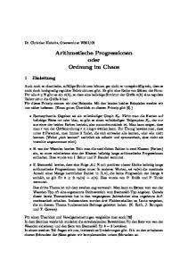 Arithmetische Progressionen oder Ordnung im Chaos