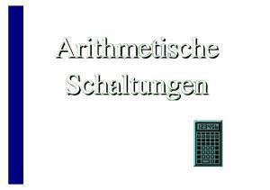 Arithmetische Schaltungen