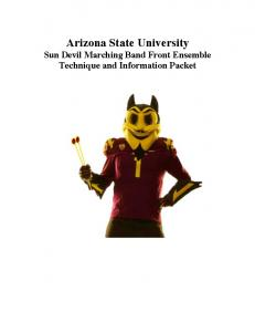 Arizona State University Sun Devil Marching Band Front Ensemble Technique and Information Packet