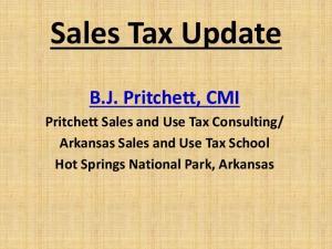 Arkansas Sales and Use Tax School Hot Springs National Park, Arkansas