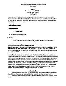 Arkansas State Board of Embalmers and Funeral Directors Board Meeting