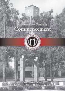 Arkansas State University Commencement